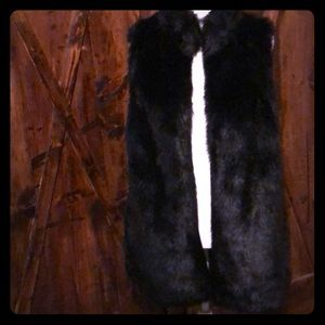Forever 21 Faux Fur Long Vest Sz L